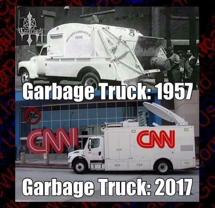 garbage trucks then and now cnnblackmail know your meme