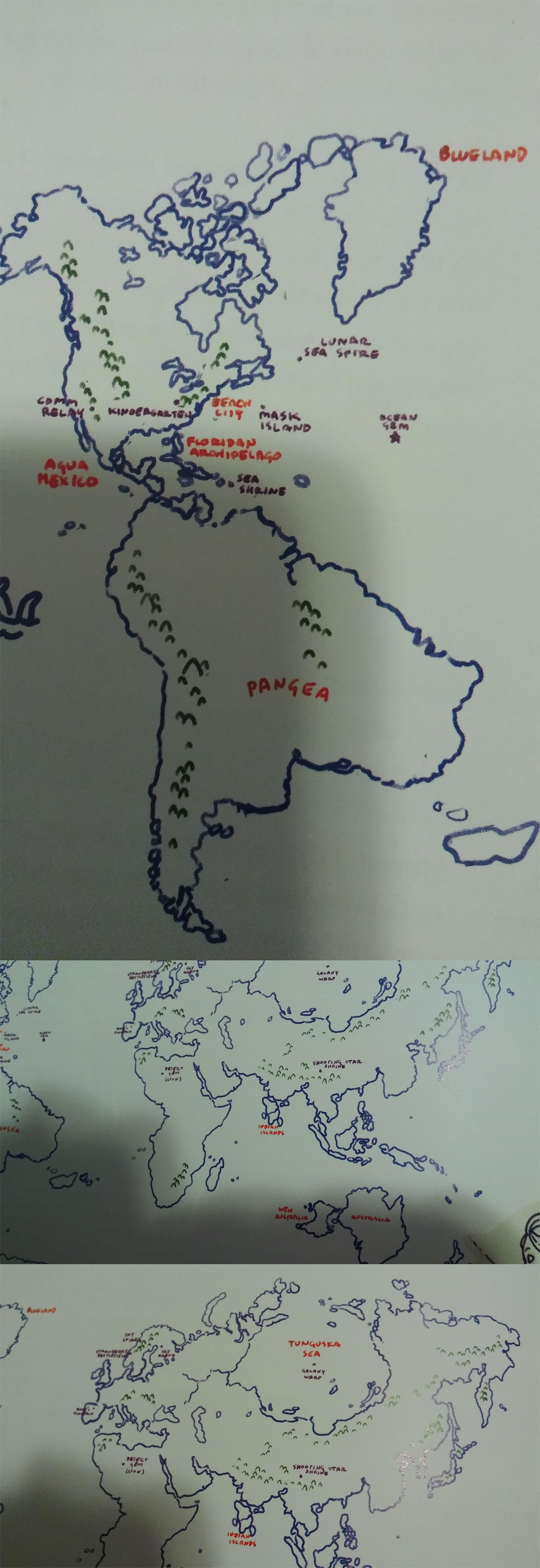 Labelled World Map Steven Universe Know Your Meme