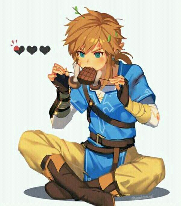 link eating the legend of zelda breath of the wild know your meme