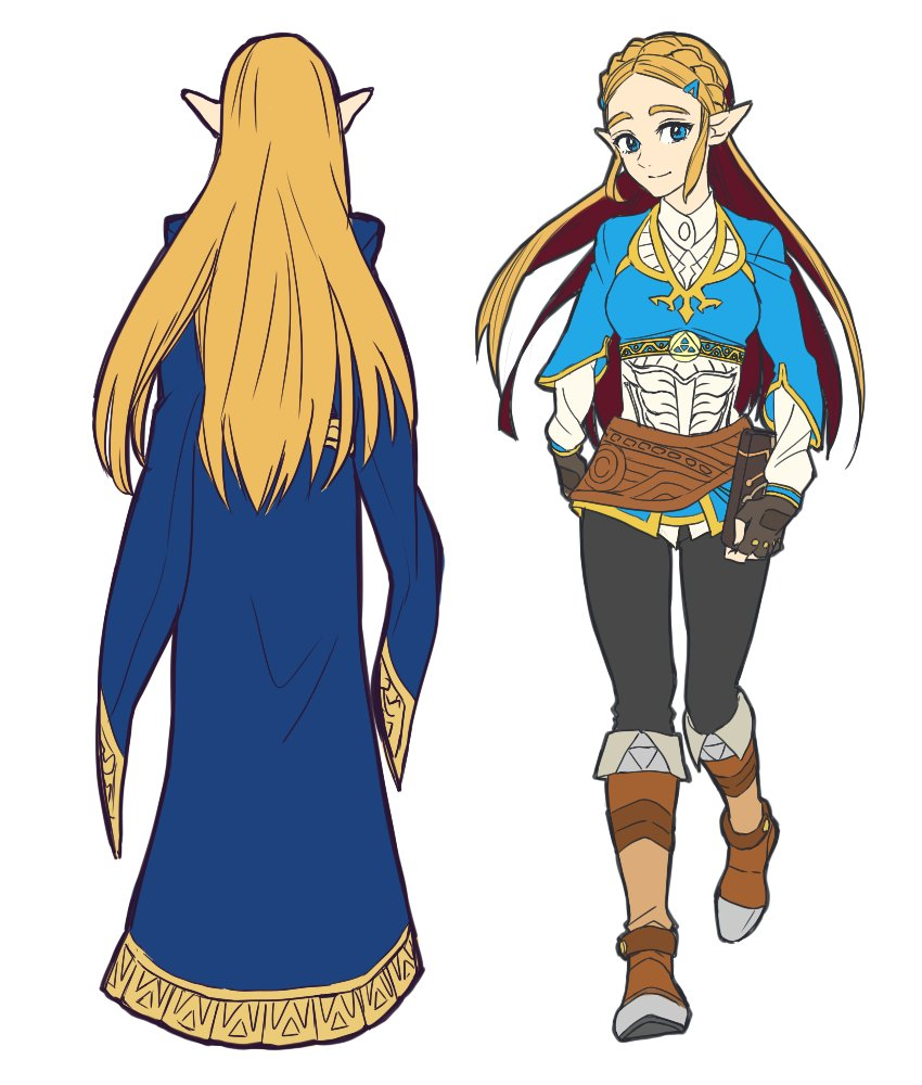 Princess Zelda S Outfits The Legend Of Zelda Breath Of