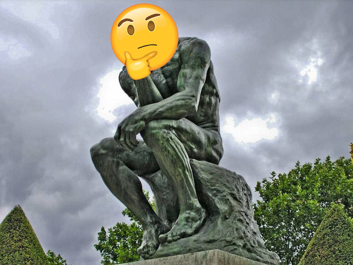 Thinker >> The Thinker Emoji Thinking Face Emoji Know Your Meme