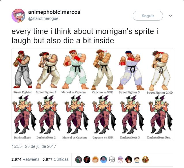 When You Used The Sprite So Many Times Darkstalkers Know Your Meme