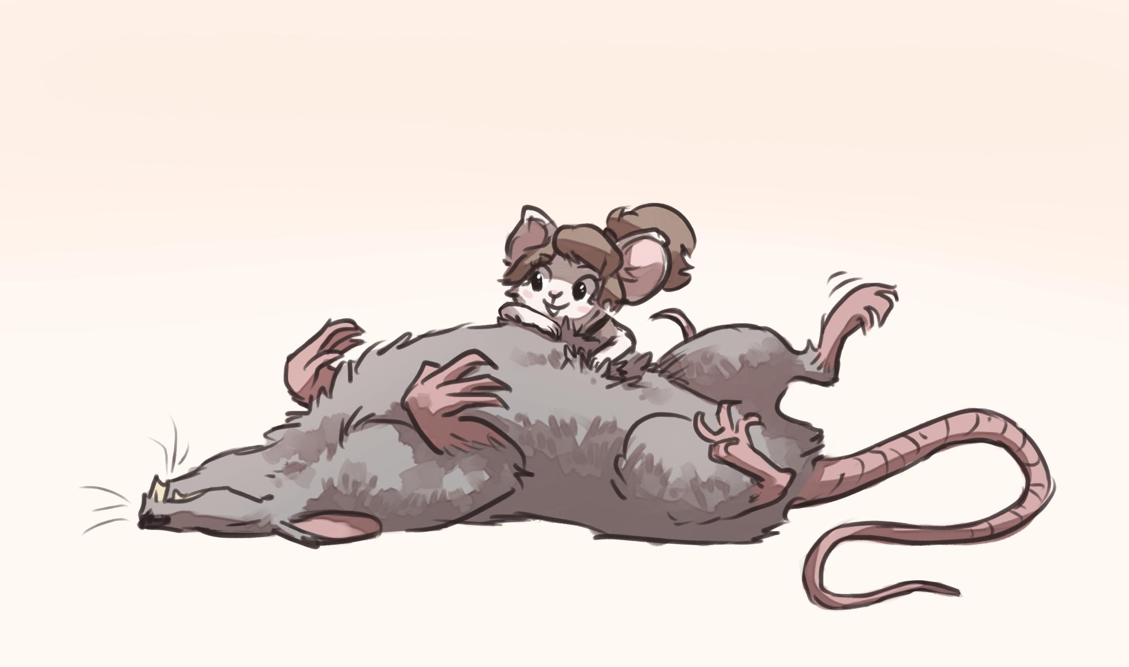 Rat lookin head ass