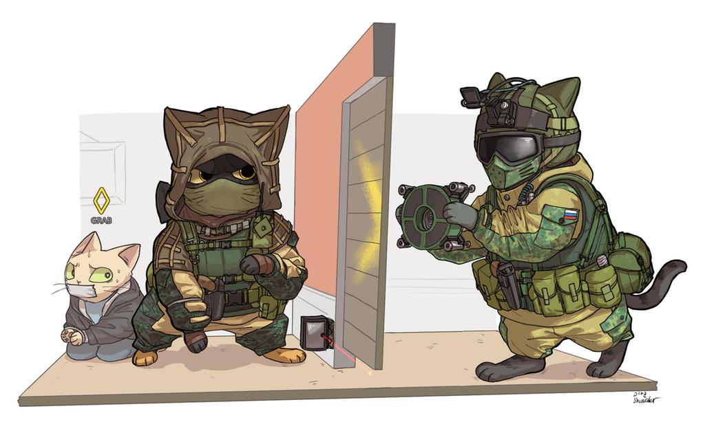 Fuze And Kapkan Kitties And Hostage Kitty Rainbow Six Siege