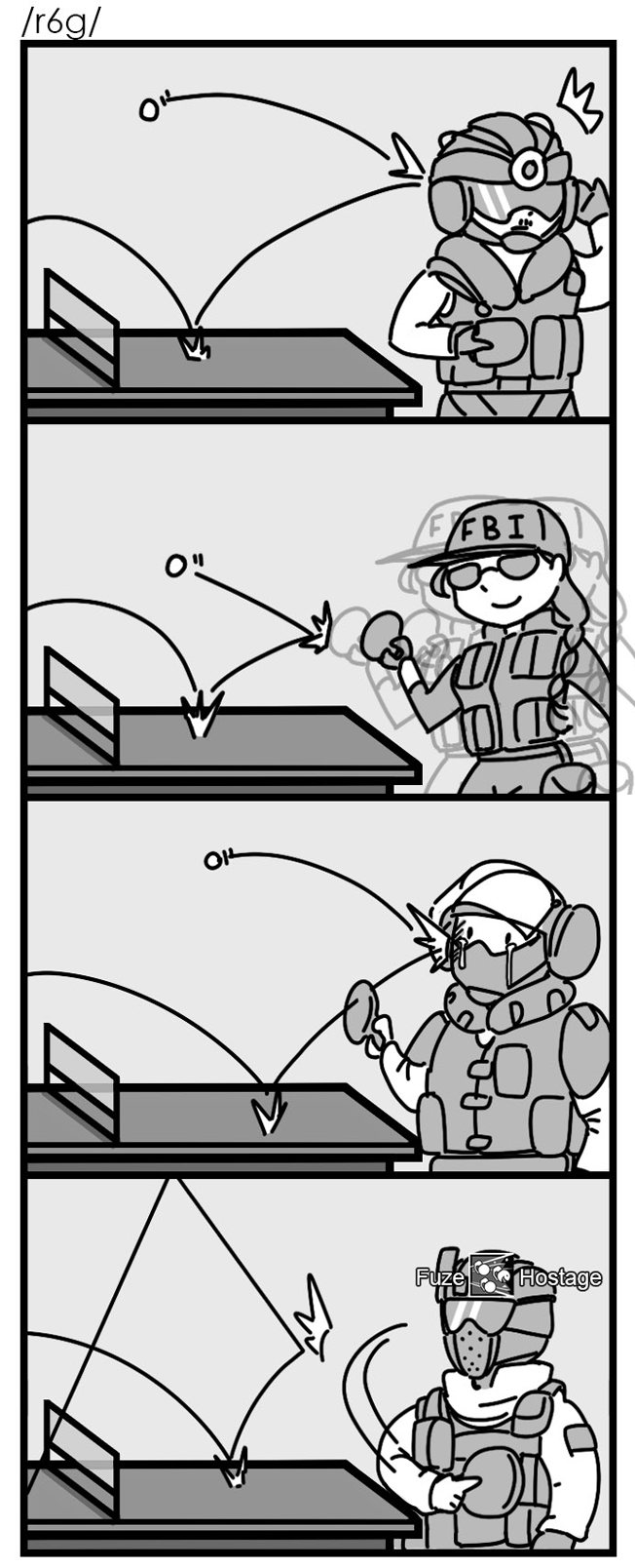Attacker Ping Pong Rainbow Six Siege Know Your Meme