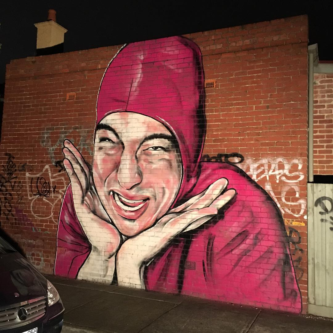 Pink Guy Mural Lushsux Know Your Meme