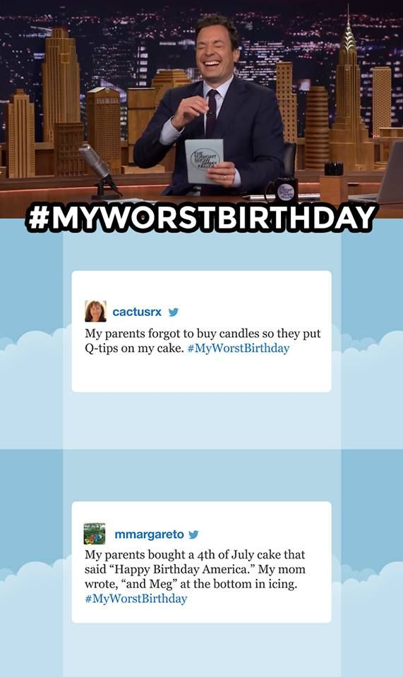 My Worst Birthday #Hashtags | Jimmy Fallon | Know Your Meme