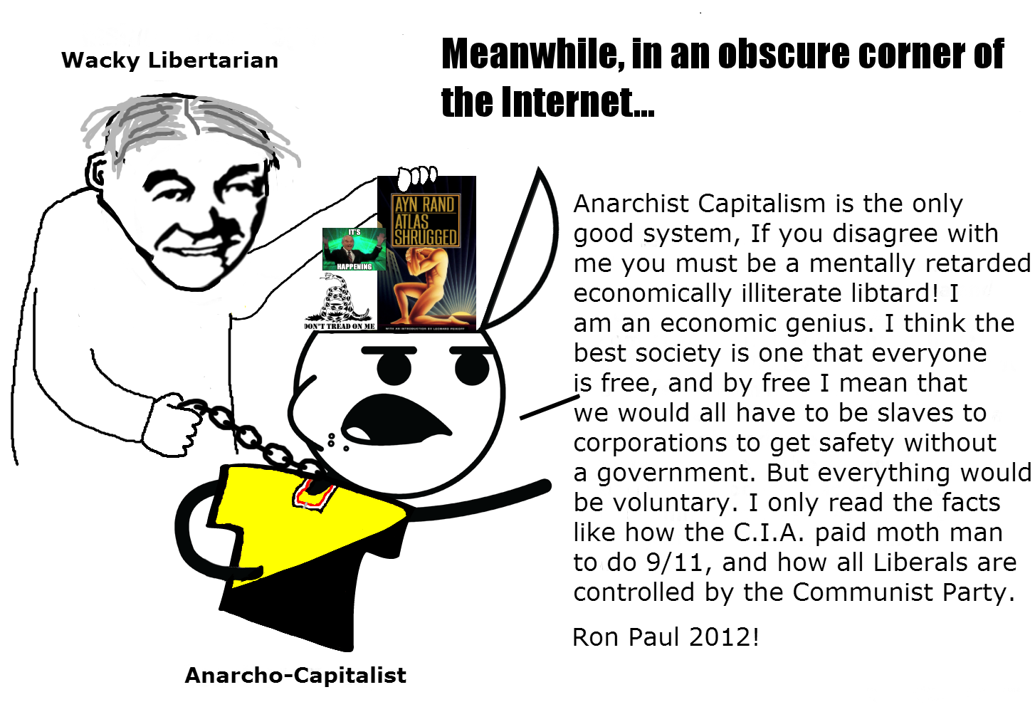 Debating An Ancap Anarcho Capitalism Know Your Meme