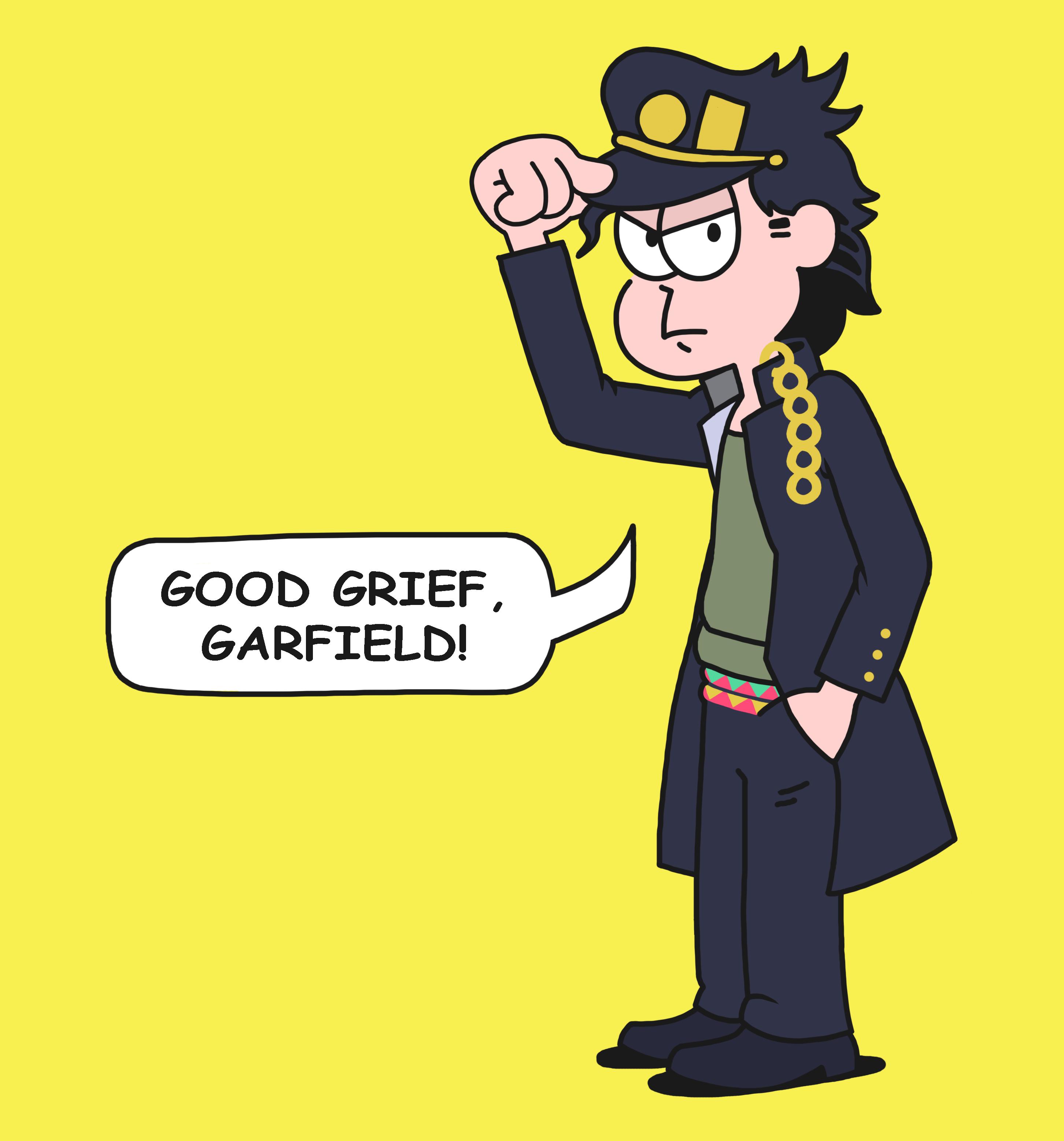 Yare Yare Garfield Jojo S Bizarre Adventure Know Your Meme