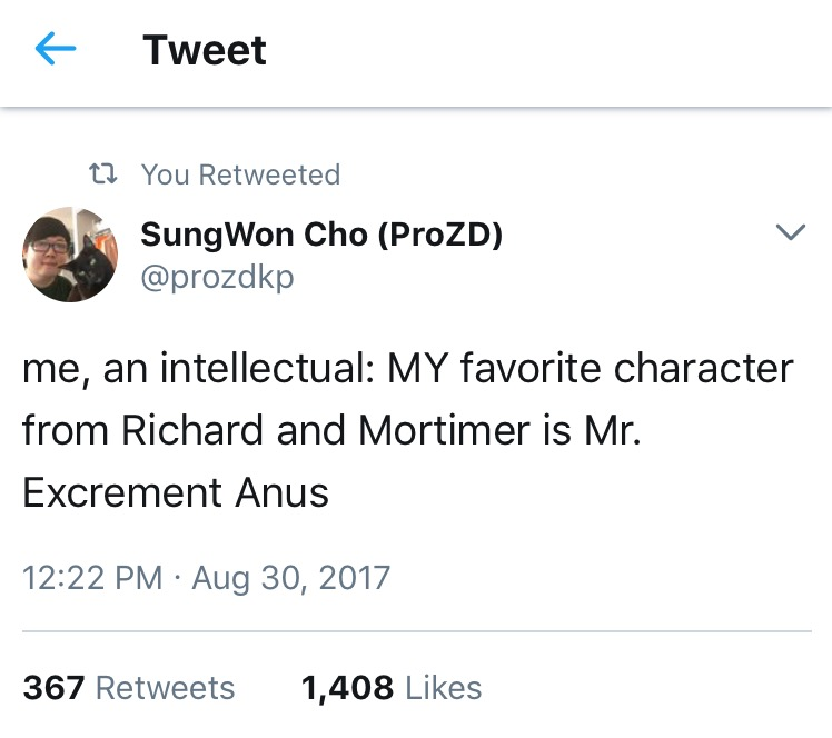 Richard And Mortimer Me An Intellectual Know Your Meme