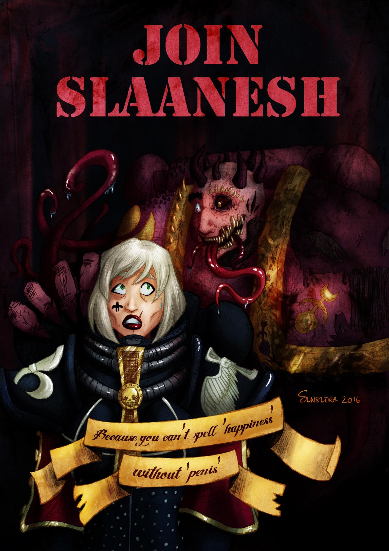 Join Slaanesh We Enjoy Life More Warhammer 40000 Know Your Meme