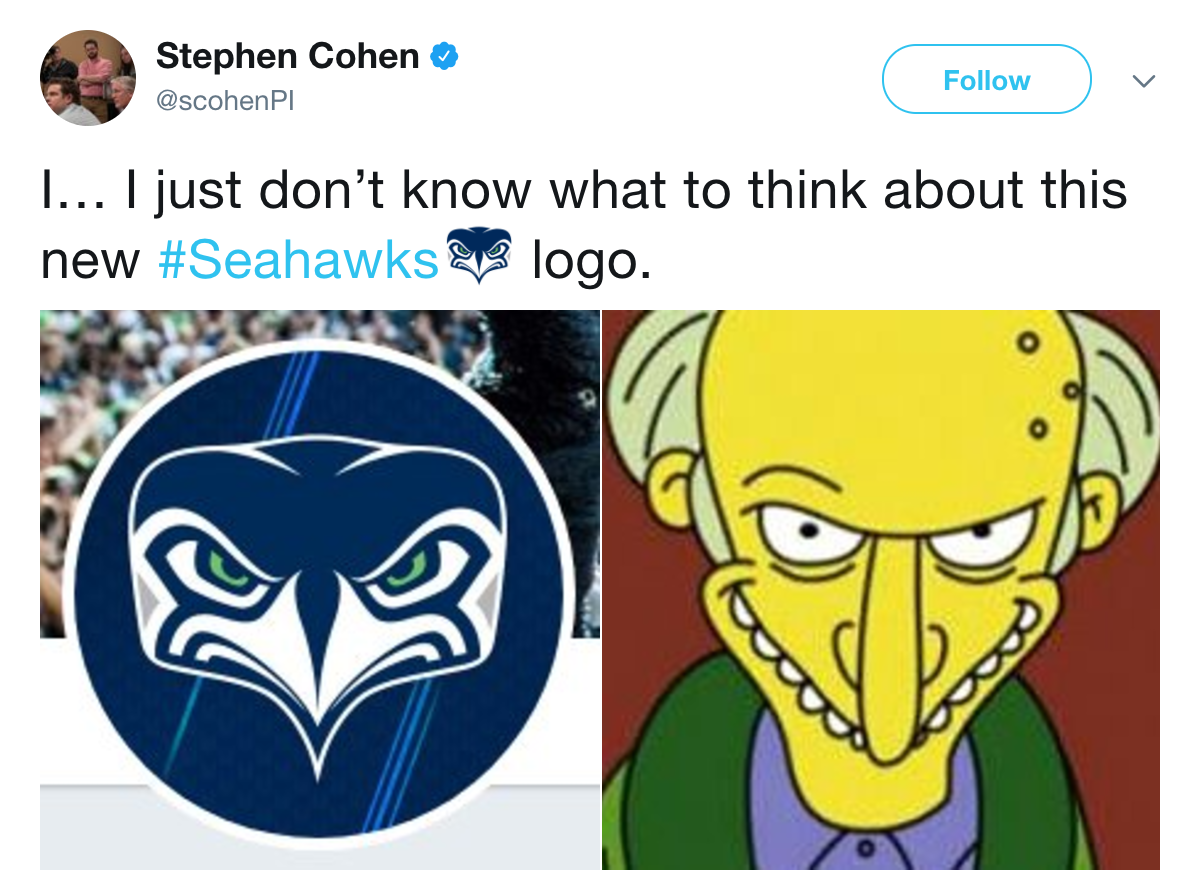 mr burns seattle seahawks logo know your meme