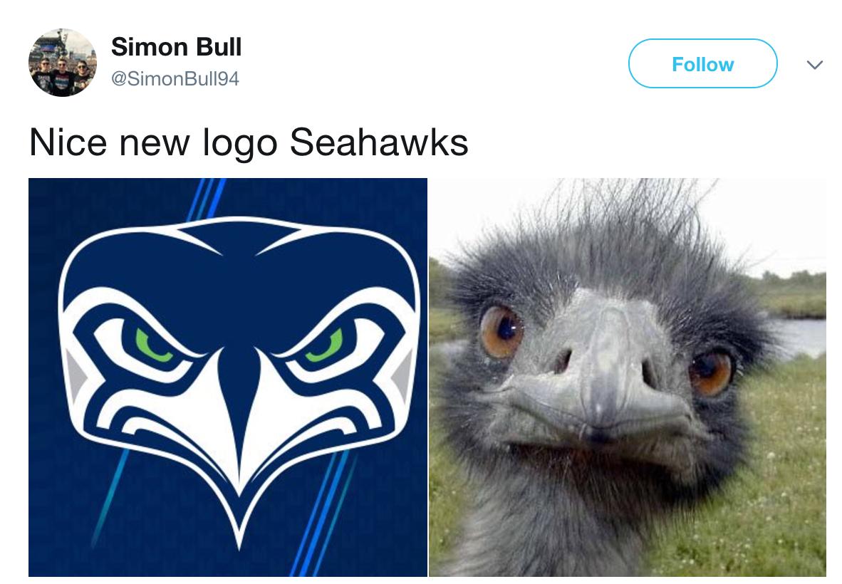 Inquisitive Emu Seattle Seahawks Logo Know Your Meme