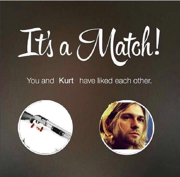 Shotgun Kurt Cobain It S A Match Know Your Meme