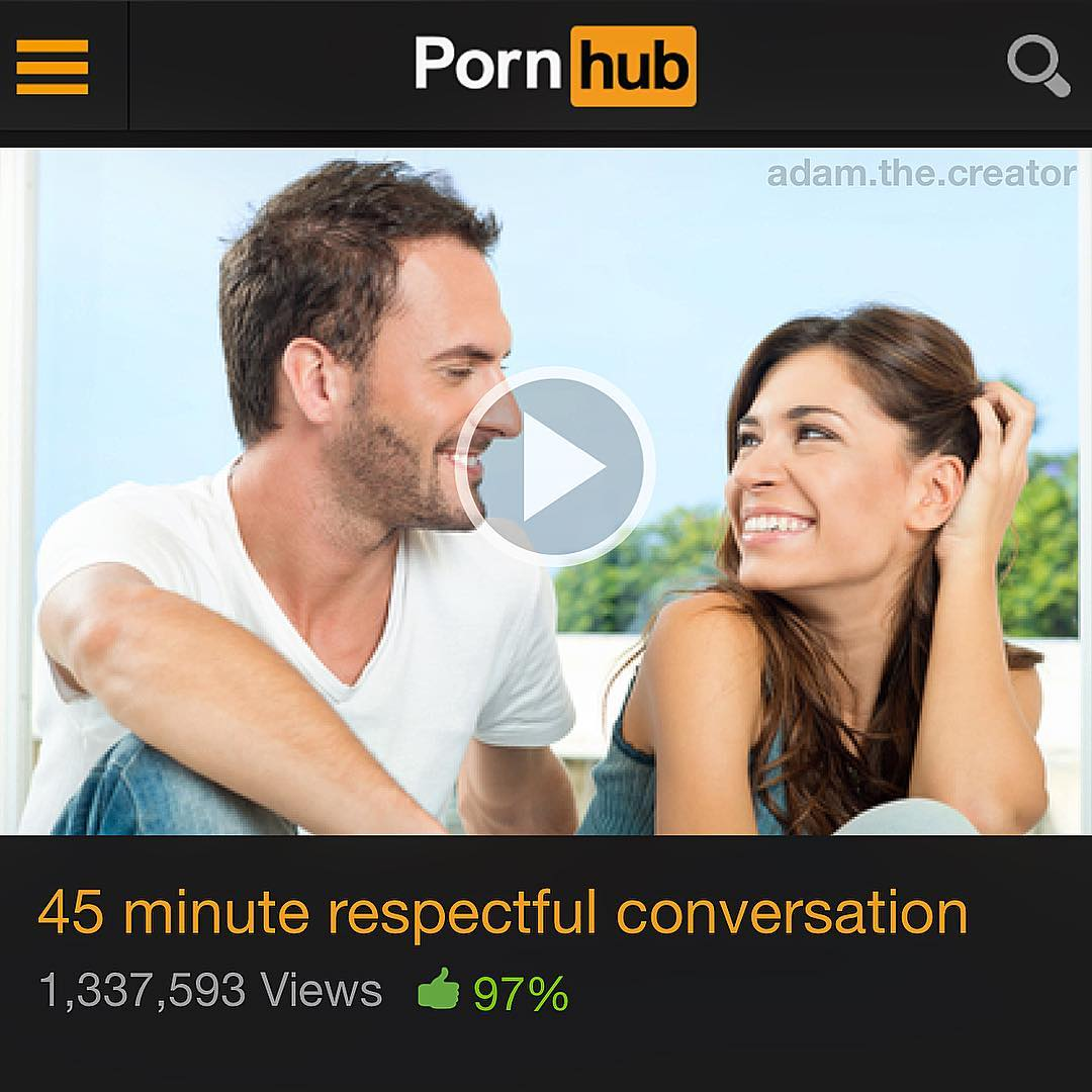 Porn hub adam the creator 45 minute respectful conversation 1337593 views 97