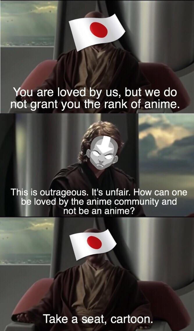 You Are Loved By Us But We Do Not Grant The Rank Of Anime