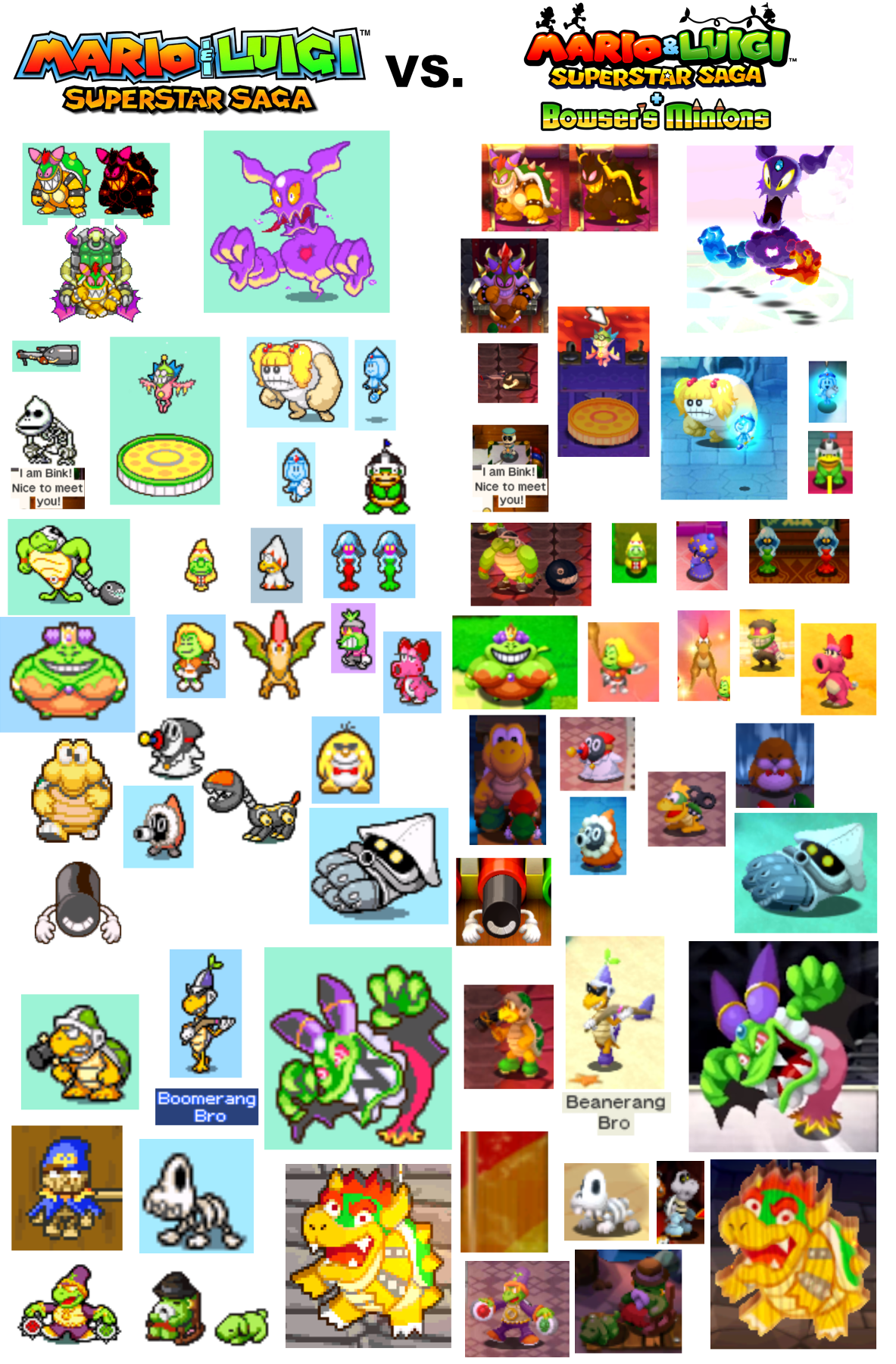 Mario Luigi Superstar Saga Vs Mario Luigi Superstar Saga
