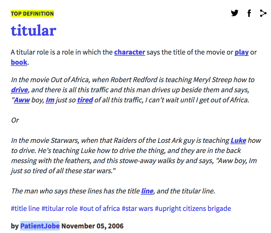what does titular mean