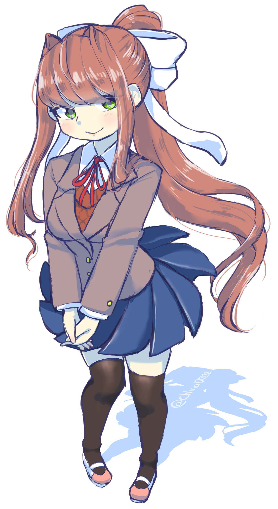 Just Monika By Chinad011 Doki Doki Literature Club Know Your Meme