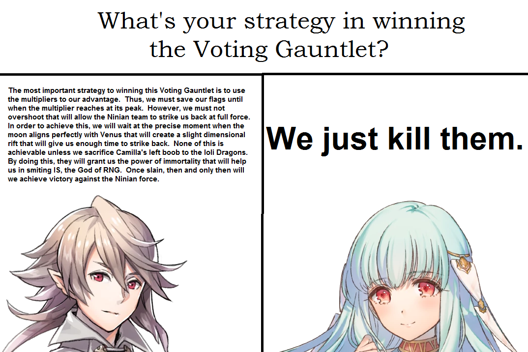 Corrin Strategy Vs Ninian Strategy Fire Emblem Heroes Know Your Meme