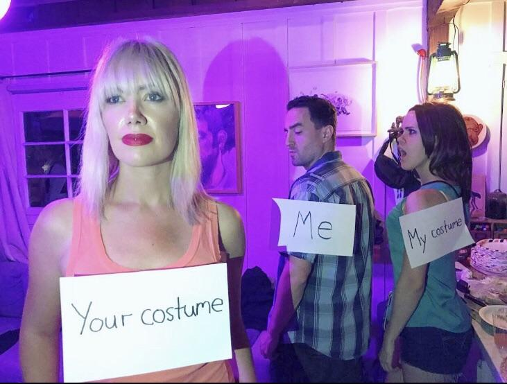 le Cosfume Your Costune Costume hair pink purple human hair color violet product fashion  sc 1 st  Know Your Meme & Halloween Costume | Distracted Boyfriend | Know Your Meme