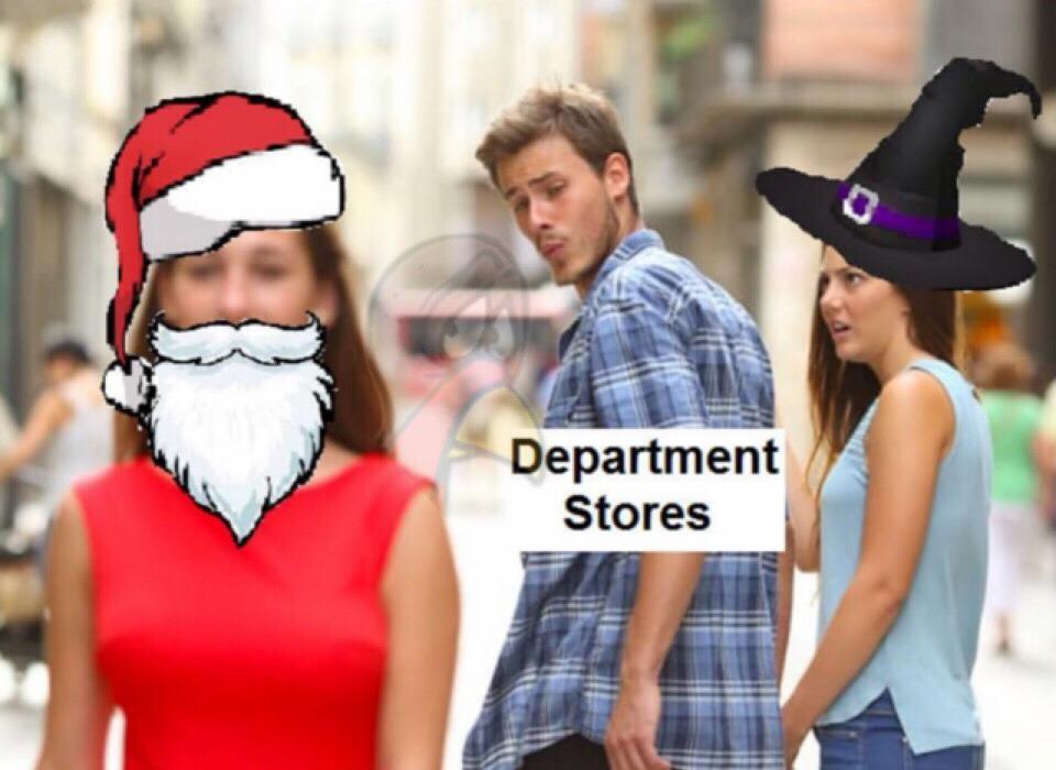 Christmas Halloween Thanksgiving Meme.Department Stores Christmas Vs Halloween Rip Thanksgiving