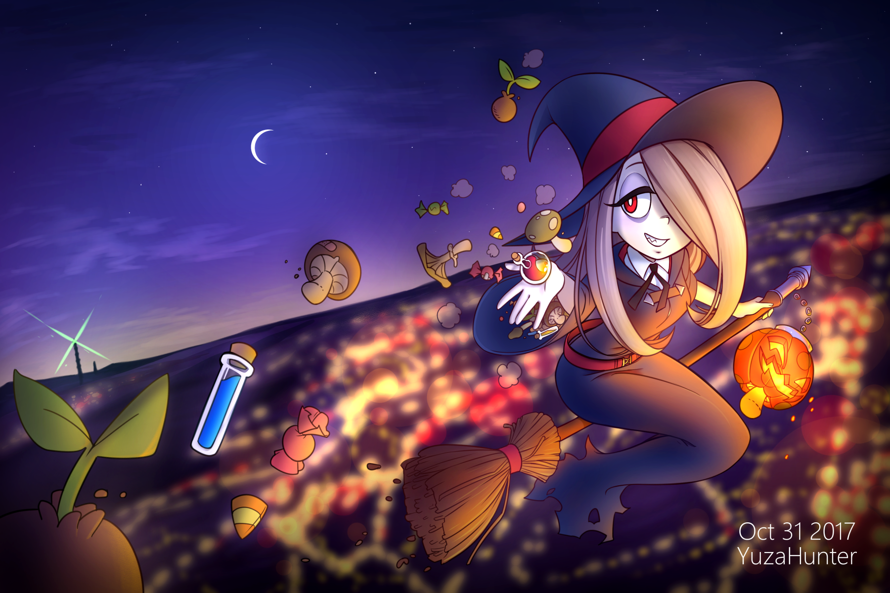 Halloween Sucy By Yuzahunter Little Witch Academia Know Your Meme
