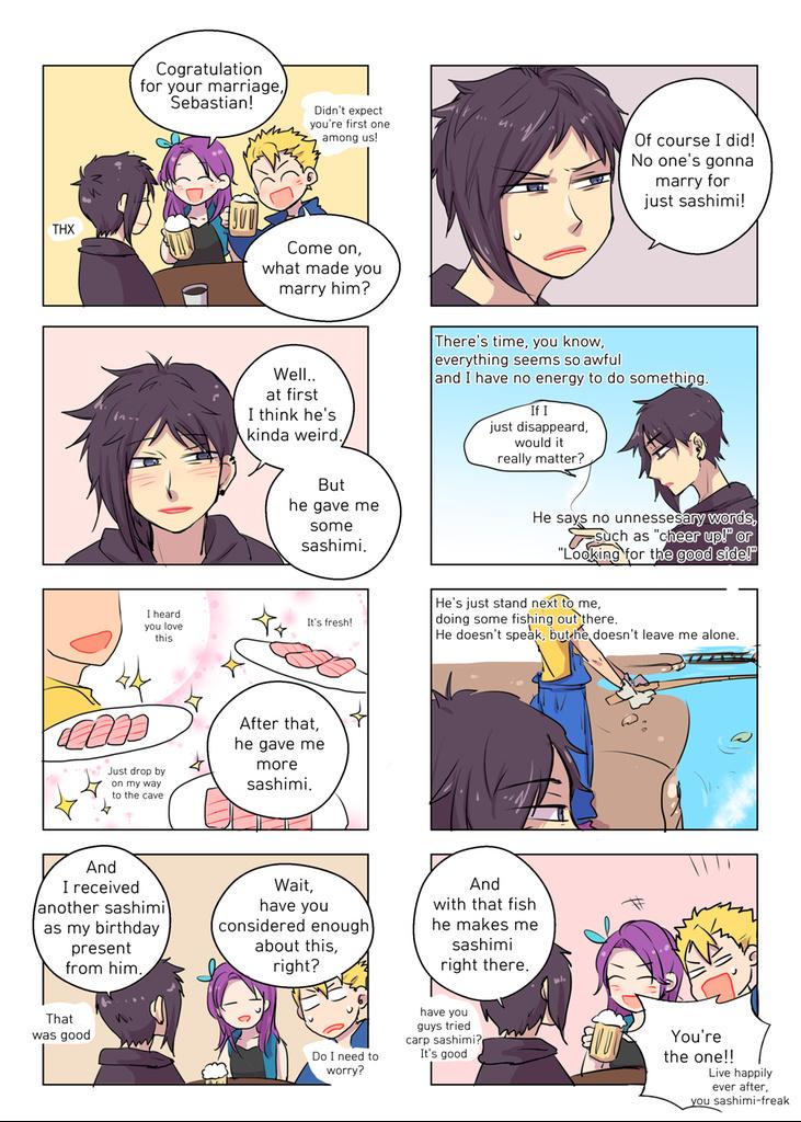 Anyone who wants to marry Sebastian needs the Sashimi recipe