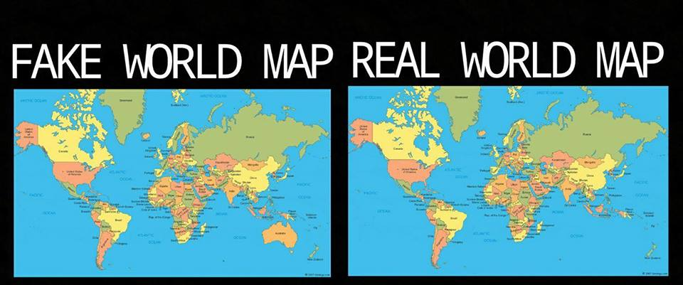 World Map With Australia.Fake Map Real Map Australia Is Not Real Know Your Meme