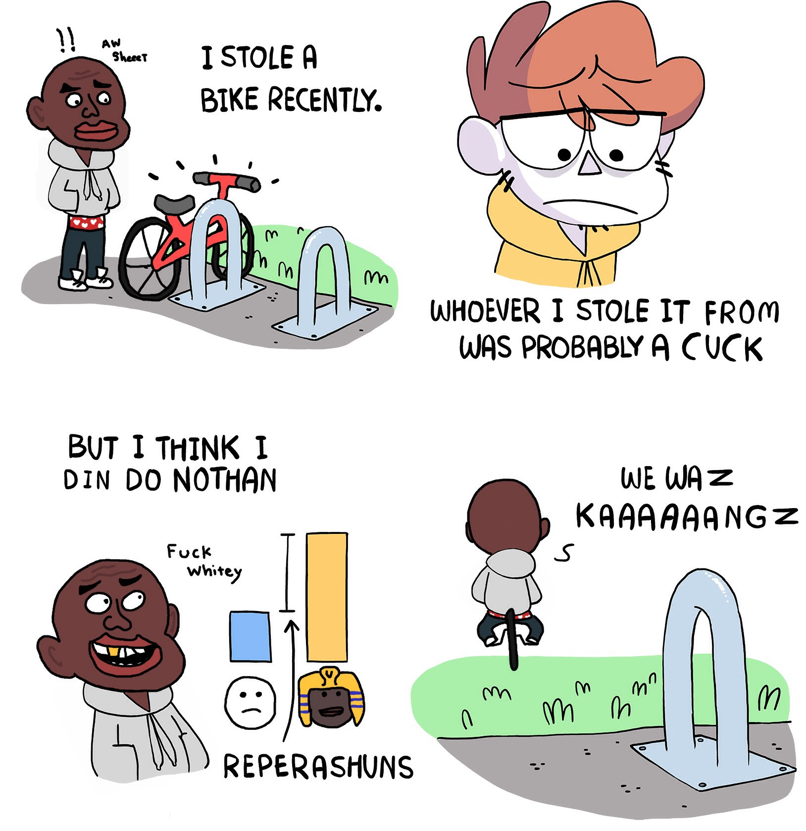 he dindu nuffin my bike got stolen recently know your meme