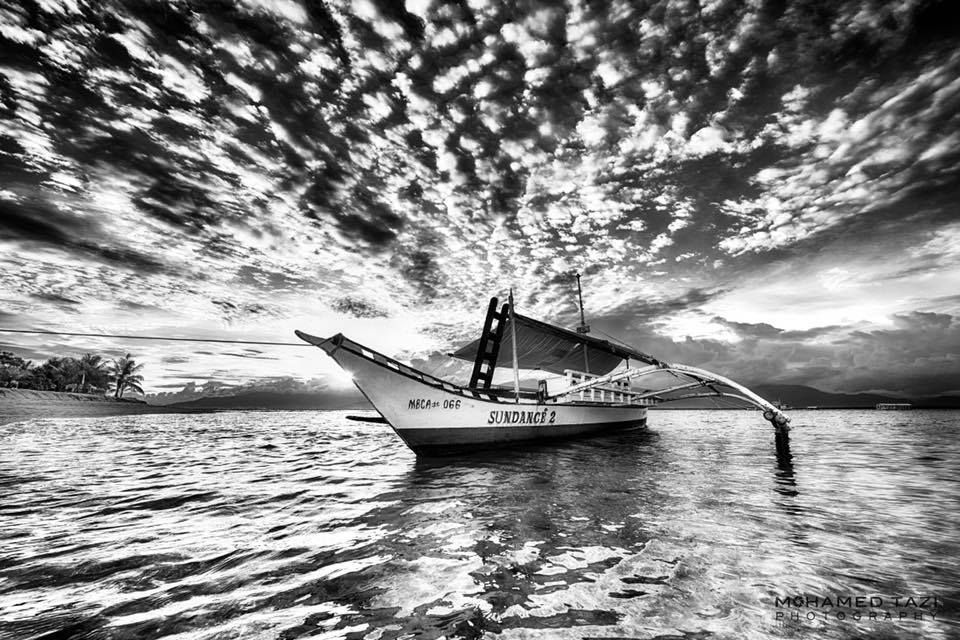 Mecaが066 sundance 2 water reflection sky black and white monochrome photography photography calm sea