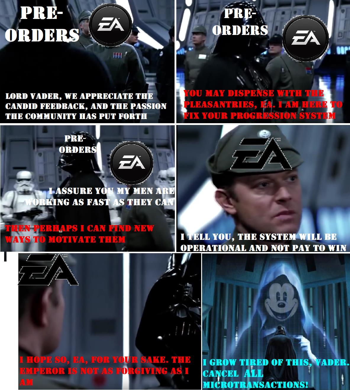 The Emperor Is Not As Forgiving Star Wars Battlefront Ii Unlockable Heroes Controversy Know Your Meme