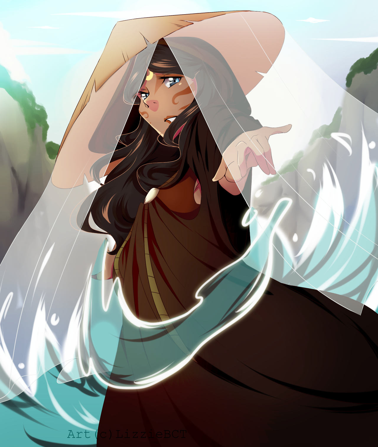 My finished piece of Katara from Avatar The Last Airbender