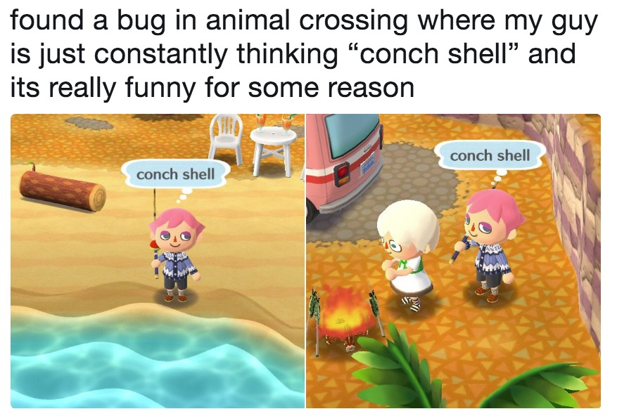 Found A Bug In Animal Crossing Where My Guy Is Just Constantly