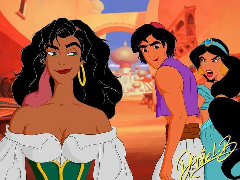 Aladdin, Jasmine, Disney