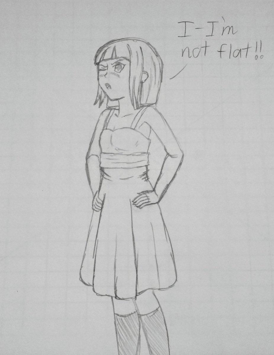 Here's the Flat Earth-chan sketch by Akizumi_Akira   Earth