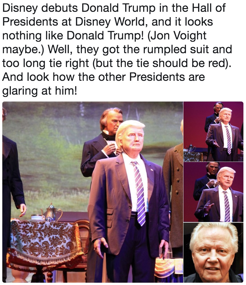 Disney debuts donald trump in the hall of presidents at disney world disney debuts donald trump in the hall of presidents at disney world and it looks ccuart Gallery