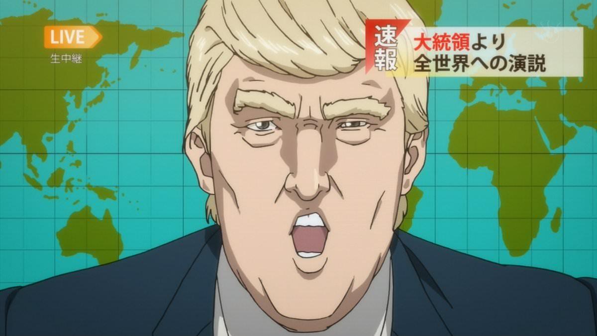 Trump Cameo In Inuyashiki