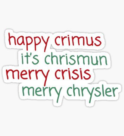 Sticker Merry Chrysler Know Your Meme