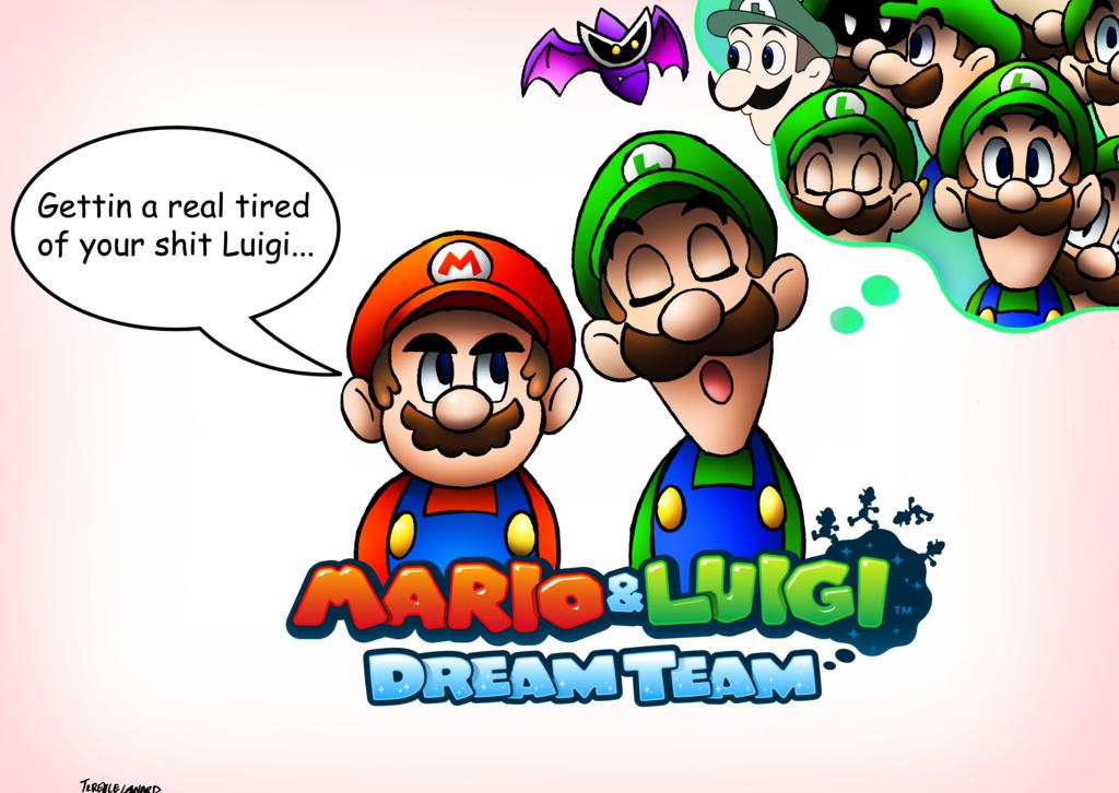 Sleeping Luigi Mario And Luigi Meme Team Know Your Meme