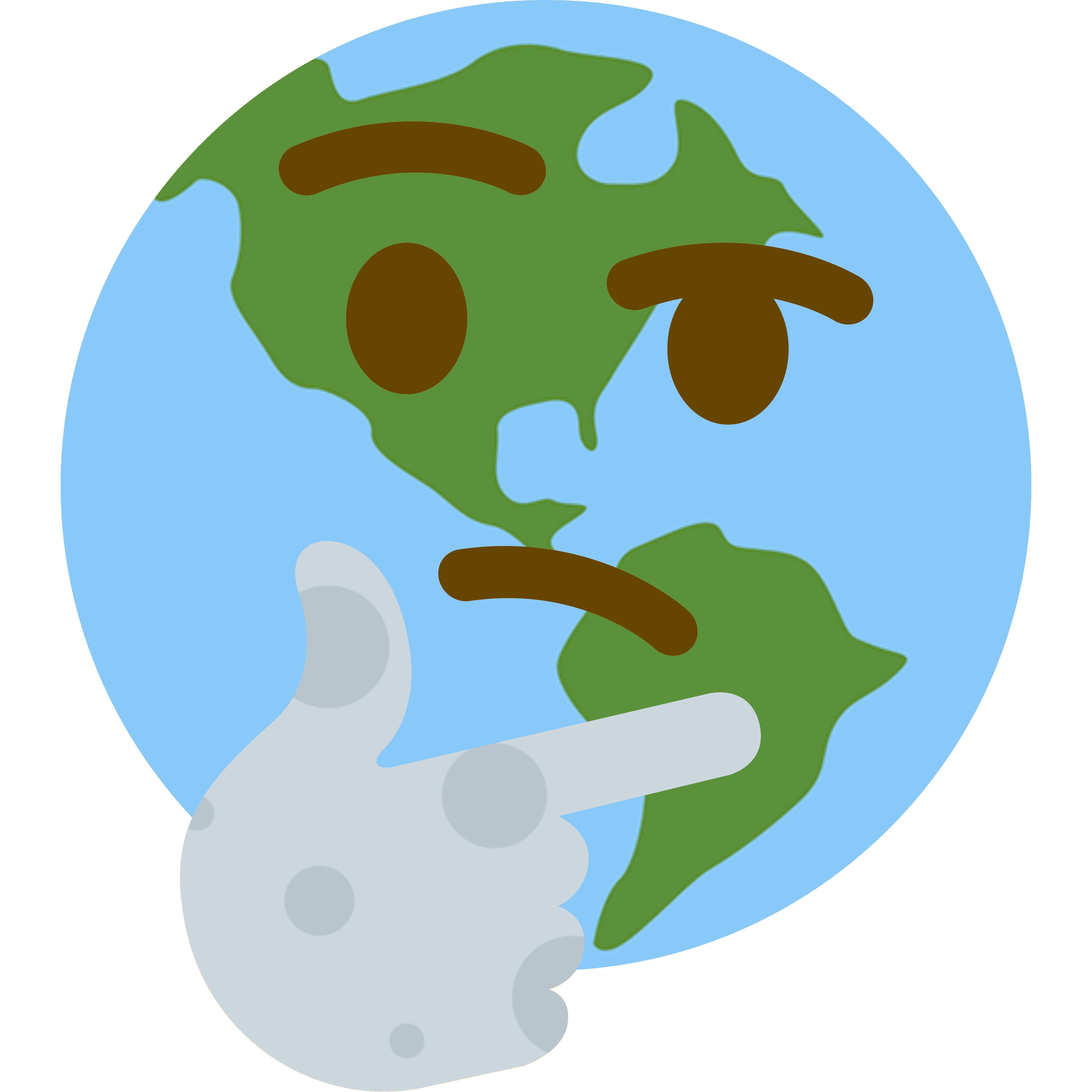 earth hmm thinking face emoji know your meme
