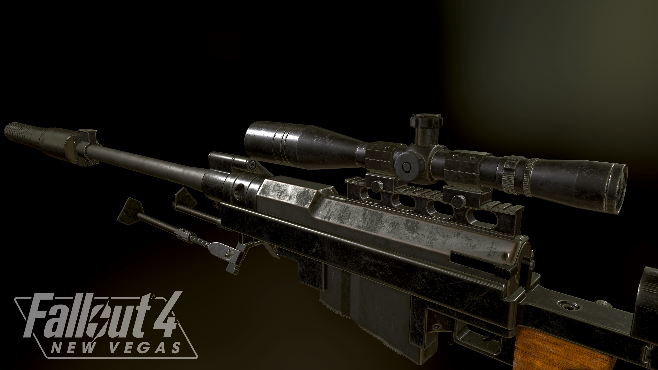 "Anti Materiel Rifle fallout 4: new vegas"" remade anti material rifle 