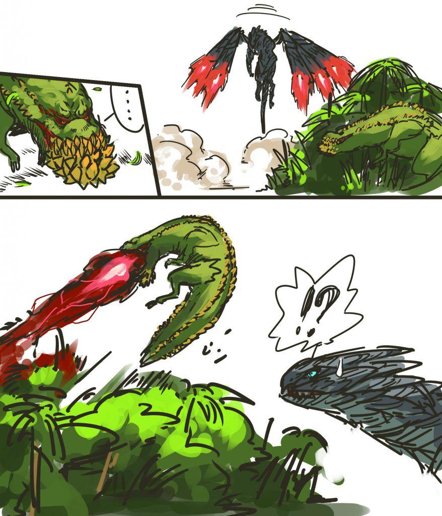 Deviljho S Rocket Jump Monster Hunter Know Your Meme