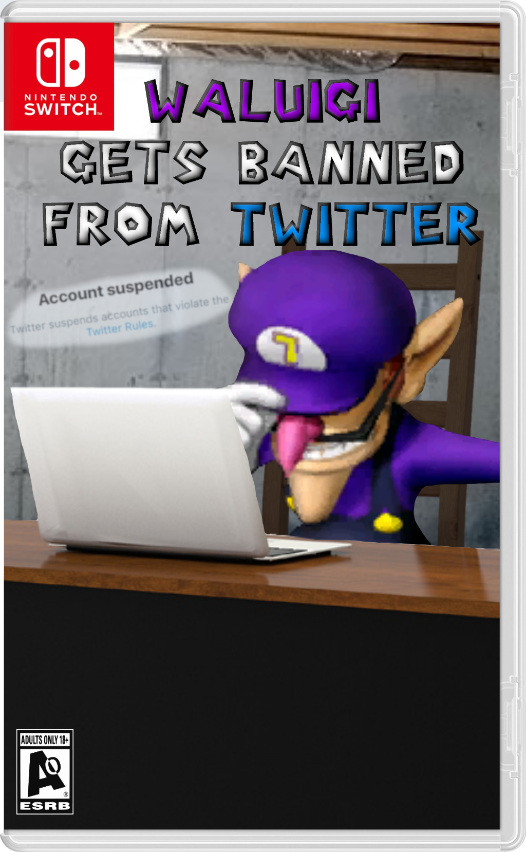 Waluigi Gets Banned From Twitter | Waluigi | Know Your Meme