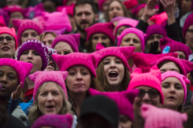 Pussyhats at Women's March | Women's March | Know Your Meme