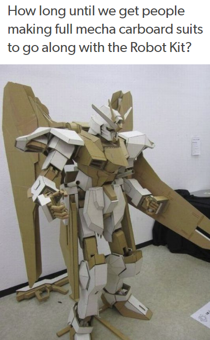 How Long Until We Get People Making Full Mecha Carboard Suits To Go Along With The