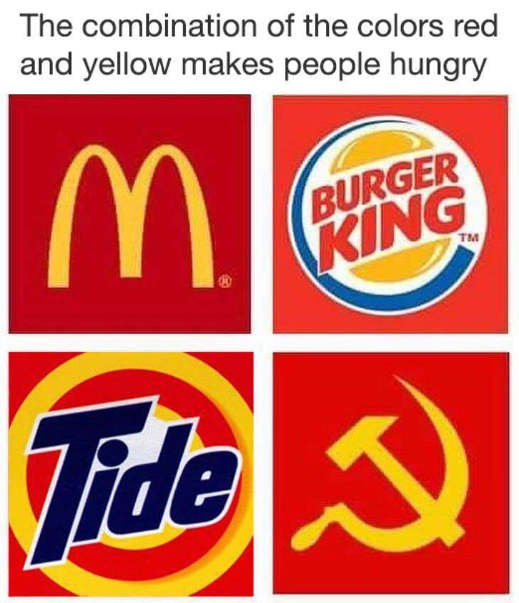 The Combination Of The Colors Red And Yellow Makes People Hungry
