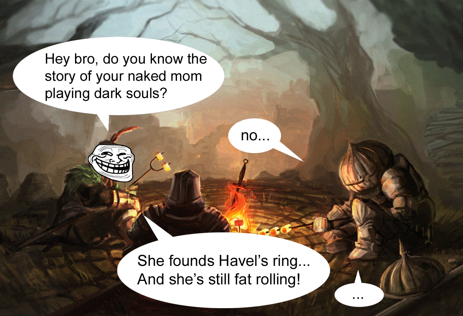 fat joke dark souls know your meme