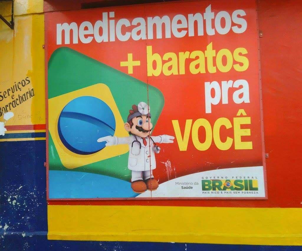 T-Posing Dr  Mario (drugstore in Brazil) | Bootleg / Knock Off