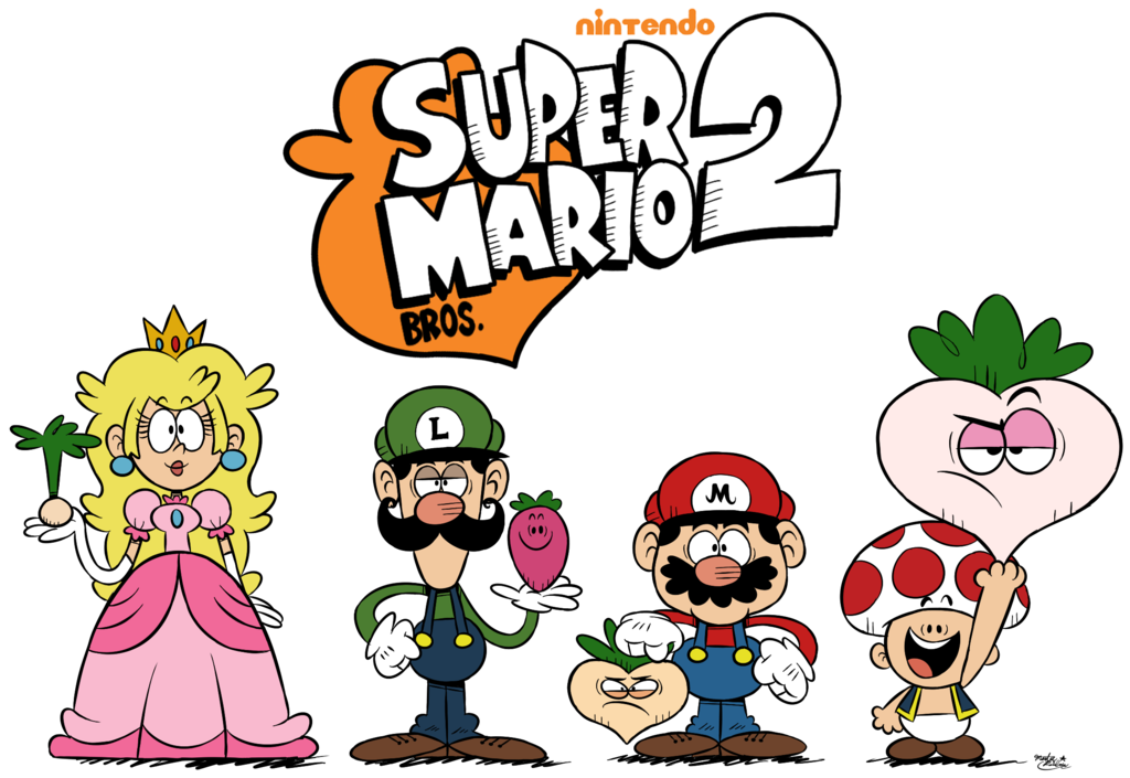 Super Mario Bros 2 Roster The Loud House Styled The Loud House